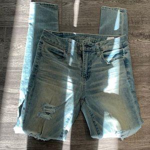 AE stretchy distressed skinny jeans